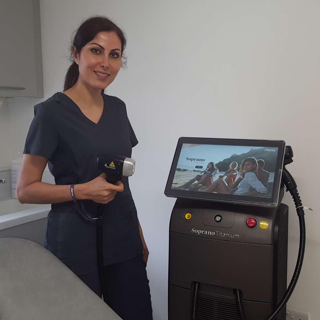 Shirley Hemmati Soprano Titanium Pain Free Laser Hair Removal DentoBeauty Grays Essex