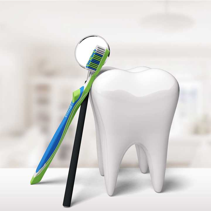 Dental Hygienist Professional Clean - square